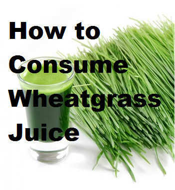 How to Consume Wheatgrass Juice